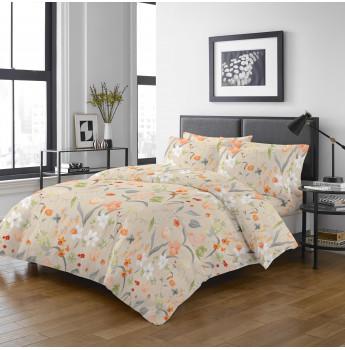 7206 - 1700針全棉貢緞床笠連枕袋