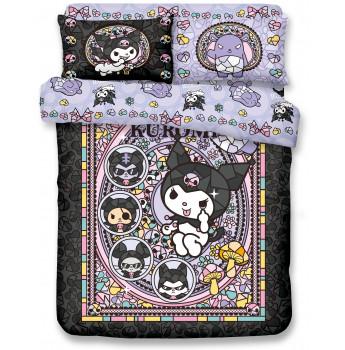 KU2101 - Kuromi 1700針全棉貢緞床品套裝