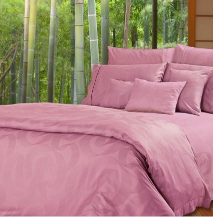 8002(Pinkish red) - Bamboo Fiber Bedding Set